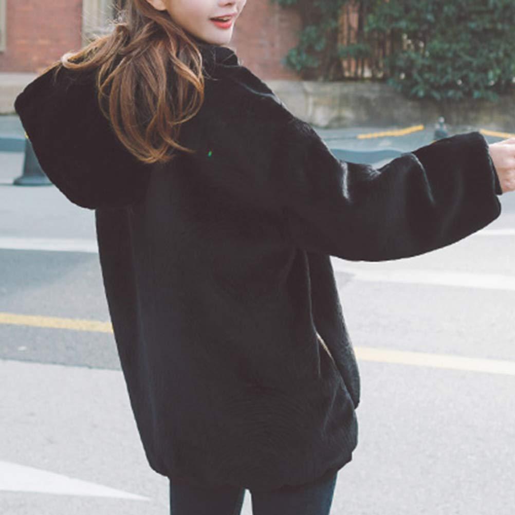 82c0490abd29a Fuerbvbc Women s Long Sleeve Fuzzy Fleece Warm Pullover Sweatshirt Hoodie  Jacket Outwear Hoodie Tops  Amazon.in  Clothing   Accessories
