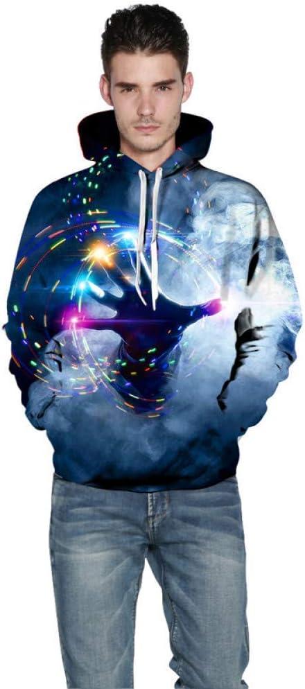 PU Printemps et Automne 3D Sweats Hommes À Manches Longues Mode Fit Hommes Sweat Galaxy Multi-Couleur Vêtements Streetwear,L ** L