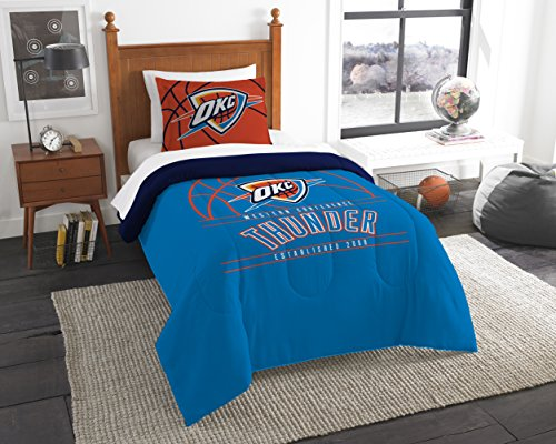 fan products of Officially Licensed NBA Oklahoma City Thunder Reverse Slam Full/Queen Comforter and 2 Sham Set