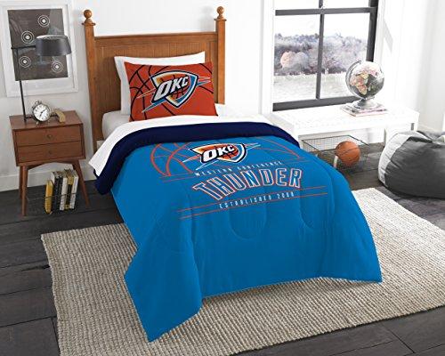 The Northwest Company Officially Licensed NBA Oklahoma City Thunder Reverse Slam Full/Queen Comforter and 2 Sham (Oklahoma Set)