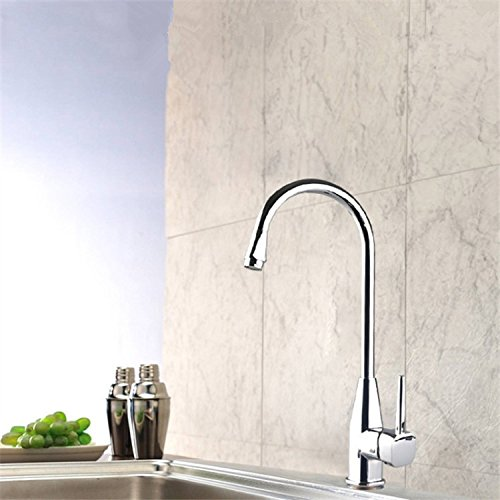 ZXYThe kitchen sink faucet sink cold zinc alloy plating tap mixed water