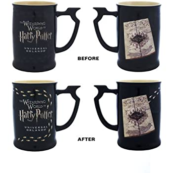 Wizarding World Harry Potter Marauders Map Heat Reactive Footstep Coffee Tea Mug Exclusive - NEW