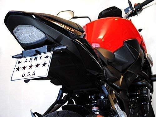 Fila Individual /Ámbar Leds para m/ás Motos Moto Negro Fino Estrecho Indicadores LED Intermitentes