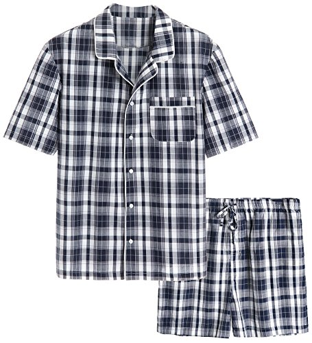 Latuza Men's Cotton Woven Short Sleepwear Pajama Set