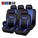 NEW ARRIVAL- CAR PASS Montclair 11PCS Universal Fit Seat Covers With opening Holes for vehicels,car ,Suv (Black and Blue color)