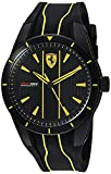 Ferrari Men's Red Rev Stainless Steel Quartz Watch with Silicone Strap, Black, 20 (Model: 0830482)