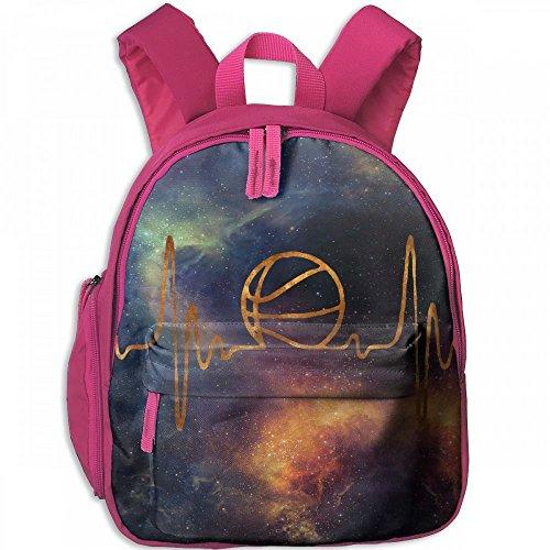 Back Basics Pitcher To (Electric Waves Basketball Golden Children's Lightweight Canvas Travel Backpacks School Book Bag)