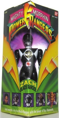 Original Mighty Morphin Power Rangers ZACH BLACK RANGER 8