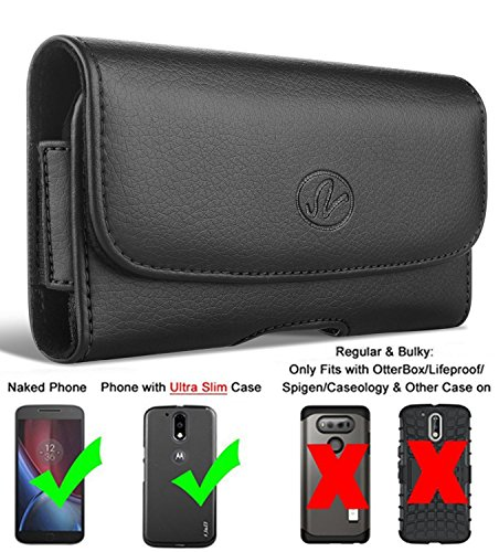 Nokia Lumia 620 Horizontal Leather Carrying Case Holster Belt Clip (Holster For Nokia 620)