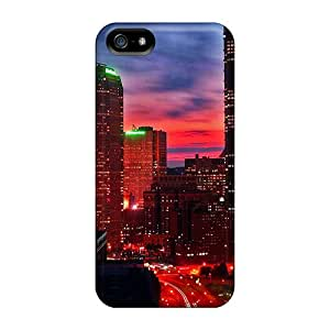 Iphone 5/5s City Glow Print High Quality Frame Cases Covers
