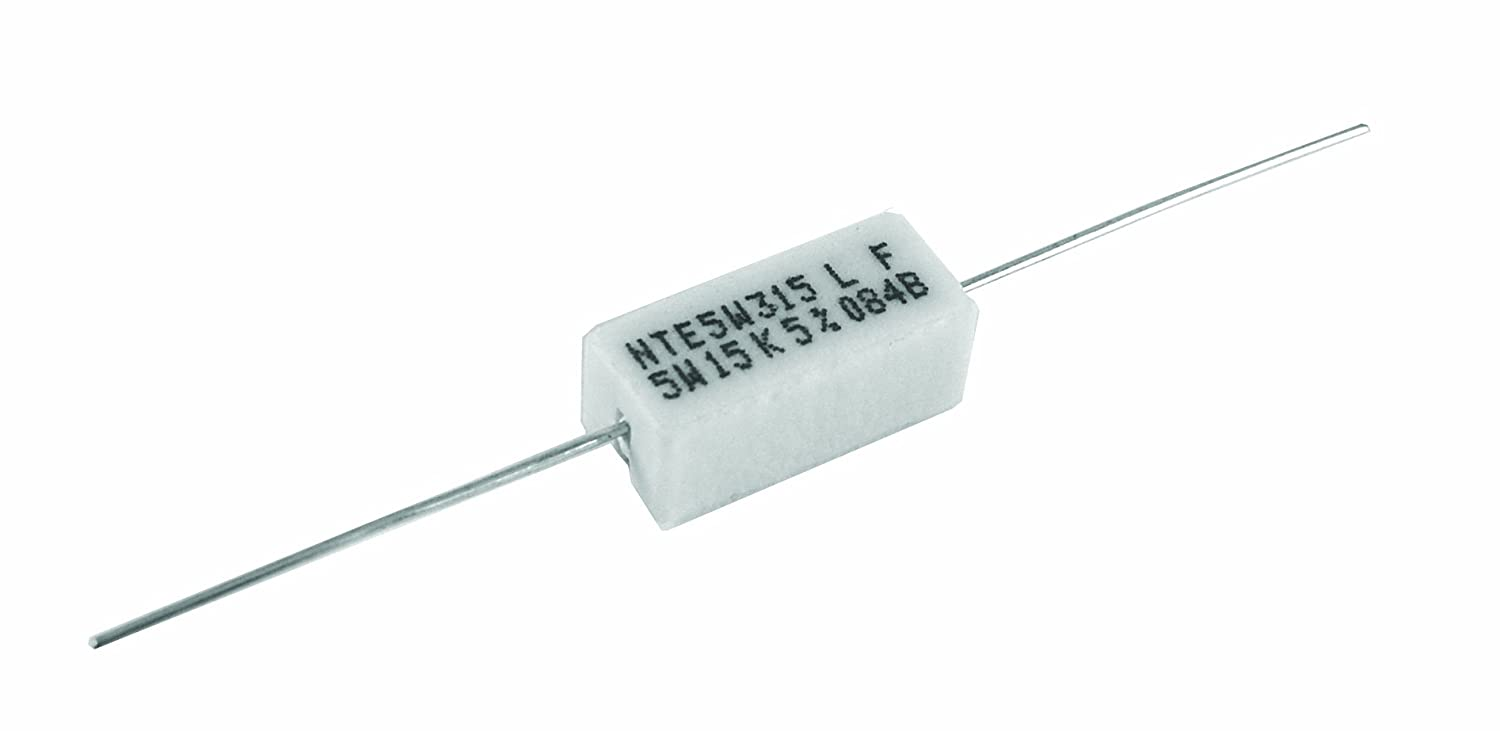 Nte Electronics 5wd27 Through Hole Resistor Wire Wound Axial That Allows You To Control And Vary The Resistance It Leaded 5 Tolerance 027 Ohm 5w 550v Pack Of 2 Single Resistors