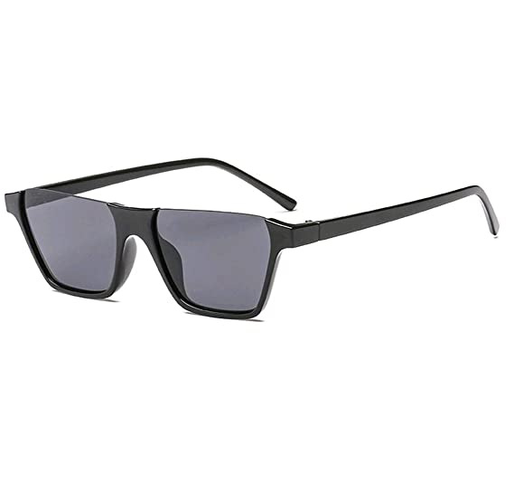 a7ee786c25 GAMT Semi Rimless Sunglasses for Women Men Vintage Cateye Square Eyewear  Trendy Style black Frame gray