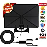 TV Antenna HD Digital, Skywire TV Antenna Stand 150 Miles Range Support 4K 1080P, Indoor Digital HDTV Antenna & Amplifier Signal Booster USB Power Supply-16.4ft Coax Cable
