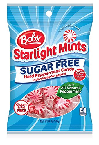 Bobs Sugar Free Starlight Mints, 6 Ounce Bag, Pack of 8 ()