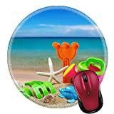 Liili Round Mouse Pad Natural Rubber Mousepads toys for childrens sandboxes against the sea and the beach 28412835