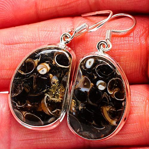 Ana Silver Co Turritella Agate Earrings 1 1/2
