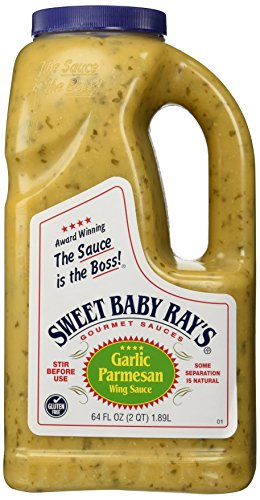 Sweet Pizza Sauce - Sweet Baby Rays Garlic Parmesan Wing Sauce - 64 Oz. Jug (1)