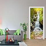 3D Wall Sticker Vibola Plateau highway/Retro/Autumn leaves/London clock/Beach view Art Decor Wall Window Door Sticker Removable Mural Poster Scene (H-Multicolor)