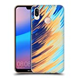 Official Andi Greyscale Two Sides of One Extreme Abstract Marbling Hard Back Case Compatible for Huawei P20 Lite