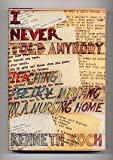 I Never Told Anybody..., Kenneth Koch, 0394406060