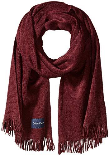 Scarf Cranberry - Calvin Klein Women's Basic Warp Knit Scarf, dark cranberry, O/S