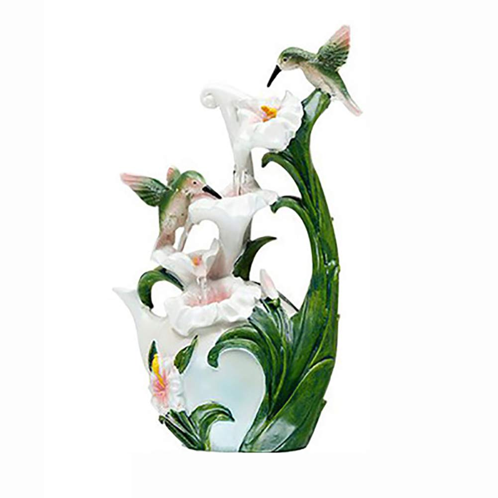 SFXYJ Flower Tabletop Water Fountain, Environmental Resin Waterfall for Office, Living Room, Bedroom