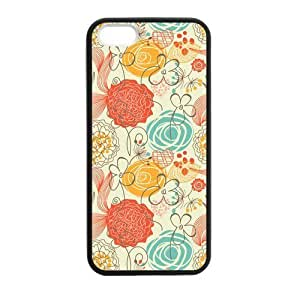 Canting_Good,Art Vintage Pattern, Custom Case for iPhone 5,5S TPU (Laser Technology)