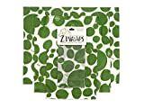 Z Wraps 3-Pack, Reusable Food Wrap and Food Saver, Alternative to Plastic Wrap, Sustainable, Eco Friendly Beeswax Food Wrap - Small, Medium, Large (Leafy Green)