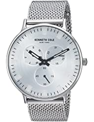 Kenneth Cole New York Mens Sport Quartz Stainless Steel Dress Watch, Color:Silver-Toned (Model: KC14946013)