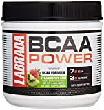 LABRADA NUTRITION – BCAA Power Powder, Fermented Amino Acids with Glutamine & Electrolytes, Muscle Building Post Workout Supplement, Strawberry Kiwi, 30sv