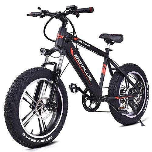goplus 20 electric mountain bike bicycle e bike fat tire. Black Bedroom Furniture Sets. Home Design Ideas