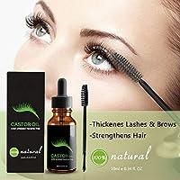 Hilai 1pc Sérum de crecimiento de pestañas 100% puro aceite de ricino estimule el crecimiento para el pelo, pestañas, cejas, hidratar la piel, evita marcas elásticas (10ml/0.34fl.oz): Amazon.es: Belleza