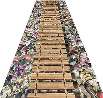 AO-Entrance Corridor 3D Floor Mat Corridor Aisle Consumer and Commercial Strip Carpet Bedroom Kitchen Mat Color : A, Size : 1.23m