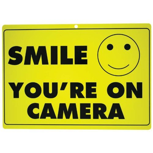 New SMILE YOU'RE ON CAMERA Yellow Business Security Sign CCTV Video Surveillance - ONE SIGN (Best Sayings On Smile)