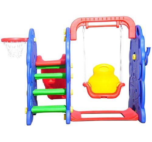 columpio infantil tobogan y canasta baloncesto juguete jardin nios a partir aos amazones juguetes y juegos