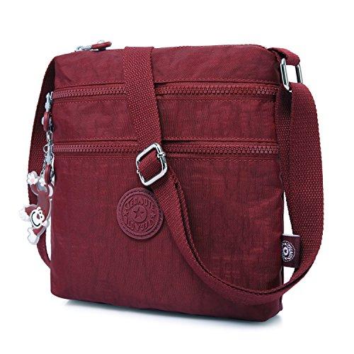 sportiva scuola leggera Messenger Design Borsa da viaggio Borse da Bag tablet Borse viaggio Foino Rosso da da 3 Bag vintage donna da viaggio per Borse Fashion PTqaFa