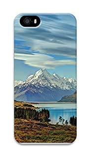 iPhone 5 5S Case Mount Cook, New Zealand 3D Custom iPhone 5 5S Case Cover