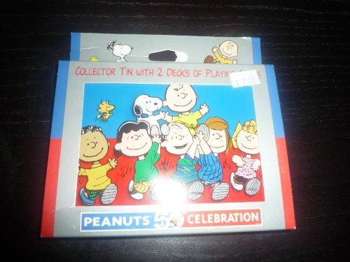 Large Celebration Tin - Peanuts 50th Celebration Playing Cards with Tin Gift Set