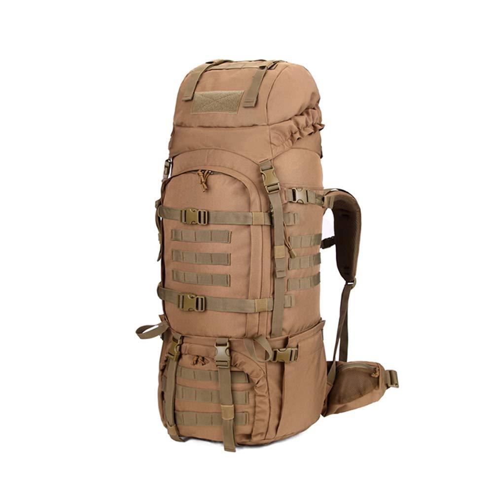 ハイキング、キャンプ、アウトドアスポーツの作業に適した多機能屋外登山バッグ70 + 10L軍事拡張可能な戦術的な防水デイパック B07S3KX24X Flesh