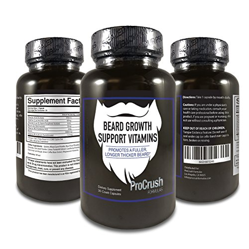 Beard-Growth-Support-Vitamins-Grow-a-longer-fuller-thicker-beard-Natural-supplement-with-Biotin-30-Count-1-month-supply-by-ProCrush-Formulas