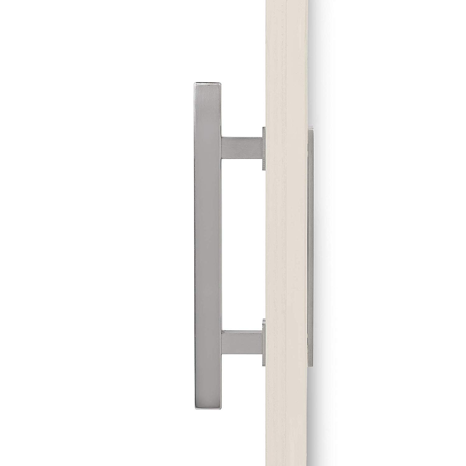 MJC /& Company 12 Round Sliding Barn Door Handle Pull with Flush-Mount Plate /& Cabin Hook Lock /¥ Heavy-Duty Modern Stainless Barn Door Hardware Set /¥ Strong Industrial Pull /& Privacy Latch