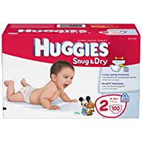 Huggies Snug & Dry Diapers, Size 2, 100 Count