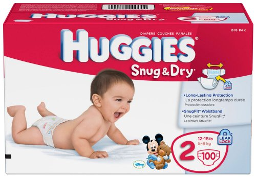 Huggies Snug and Dry Diapers, Size 2, 100 Count, Baby & Kids Zone