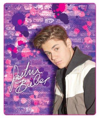 Justin Bieber Brix Design Fleece Throw Blanket (Purple Justin Bieber Blanket)