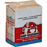 Saf Instant Yeast, 1-Pound Pouches (Pack of 4)