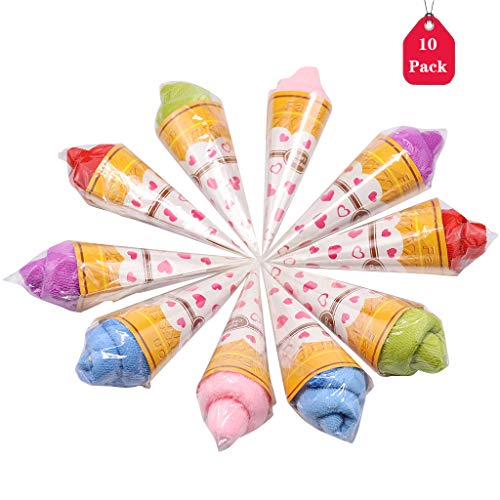 - DreamJ 10Pcs Ice Cream Towel, Personalized Wedding Gift,Thank You Guest Favor Bridal Shower Baby Showers Birthday Party Flavor Creative Gift