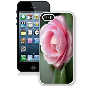 NEW Unique Custom Designed iPhone 5S Phone Case With Pink Camellia Htc One M8_White Phone Case
