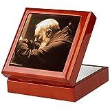 CafePress - Padre Pio - Keepsake Box, Finished Hardwood Jewelry Box, Velvet Lined Memento Box