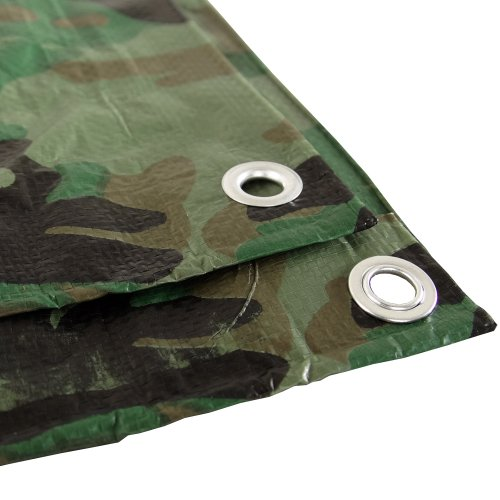 Camouflage 8x10 Green Hunting Army Camo Tarp Cover Patio Canopy Farm Shade ()