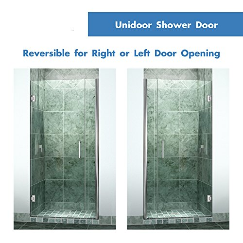 DreamLine Unidoor 33-34 in. Width Frameless Hinged Shower Door 3/8\  Glass Brushed Nickel Finish - Frameless Pivot Shower - Amazon.com  sc 1 st  Amazon.com & DreamLine Unidoor 33-34 in. Width Frameless Hinged Shower Door 3 ...